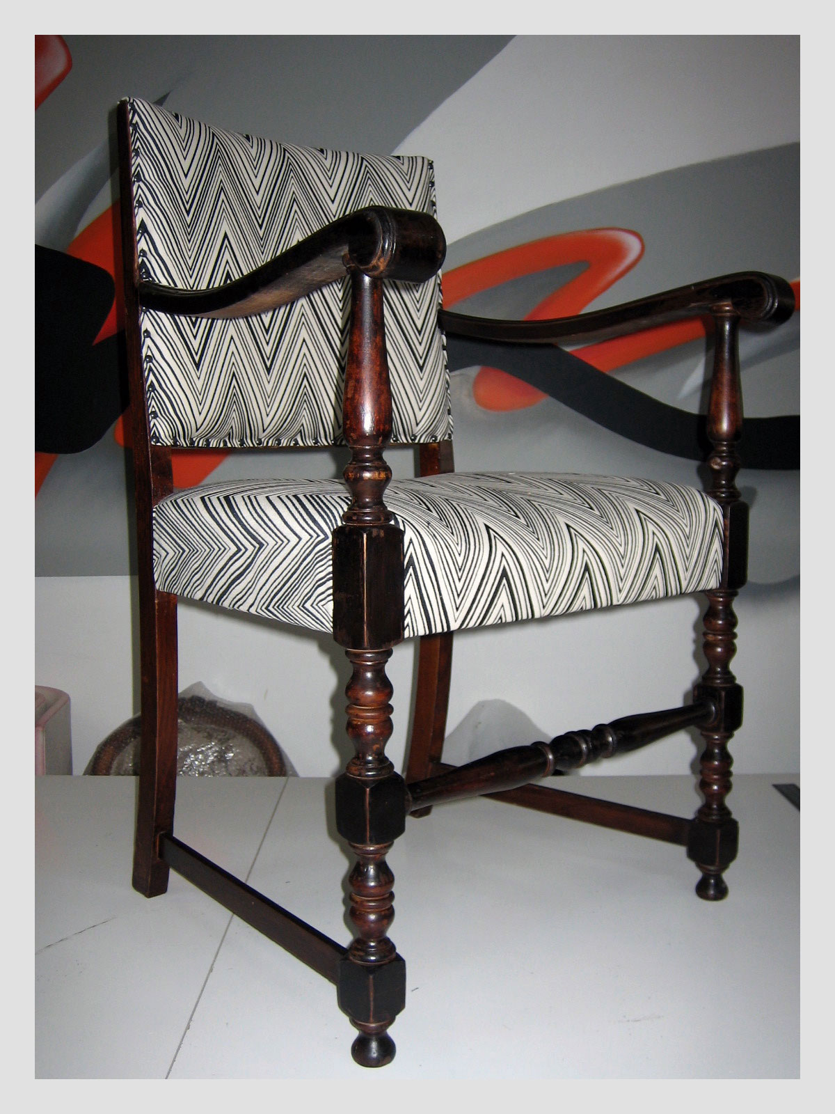 Carver Chair in Missoni Fabric