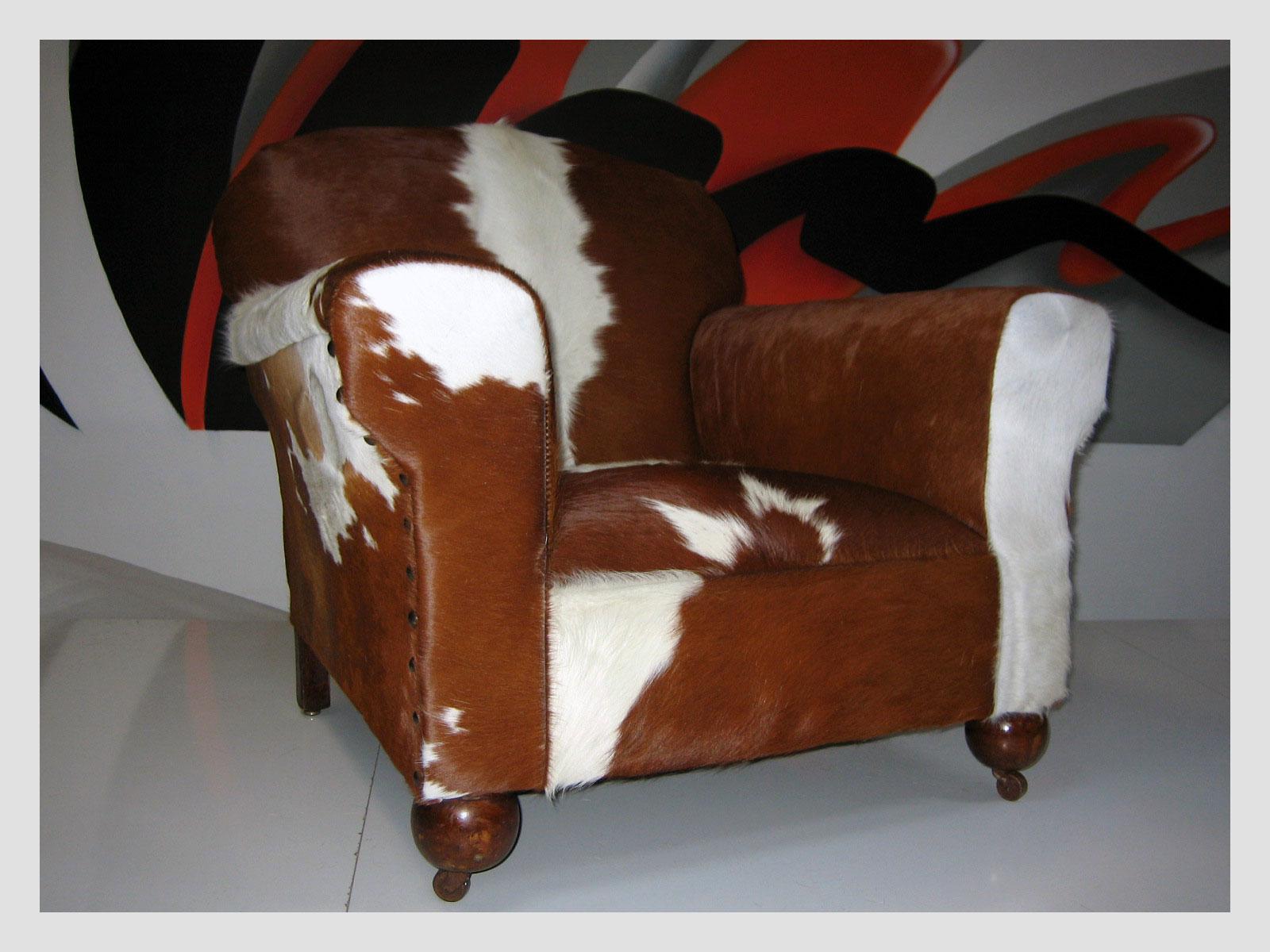 Cow Hide Club Chair