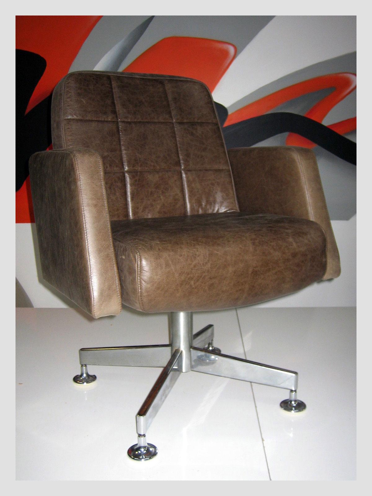 Australian Leather Swivel Chair