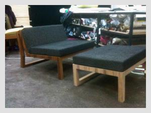 Local Made Chair Plus Ottoman