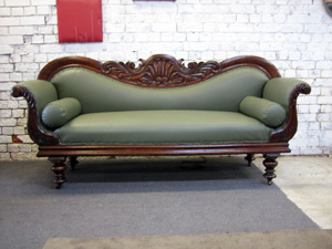 Victorian Leather Settee