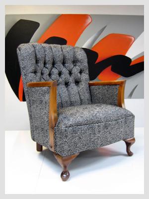 Early Australian Diamond Buttoned Arm Chair