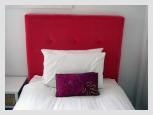 Pink Velvet Bed Head