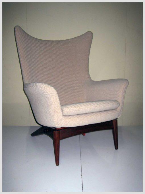 Re-Upholstery-Fitzroy-Melbourne-Danish-Mid-Century-Restored-Upholstered-in-Kvadrat-Fabric-Chair-Upholsterer